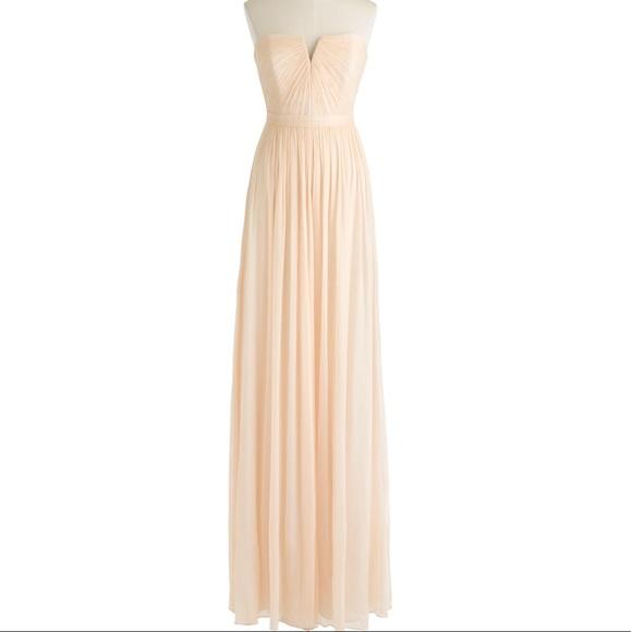 J Crew Dresses | Nadia Long Dress Silk Chiffon Gown | Poshmark